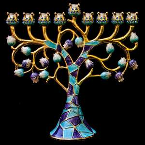 Jeweled Colorful Menorah