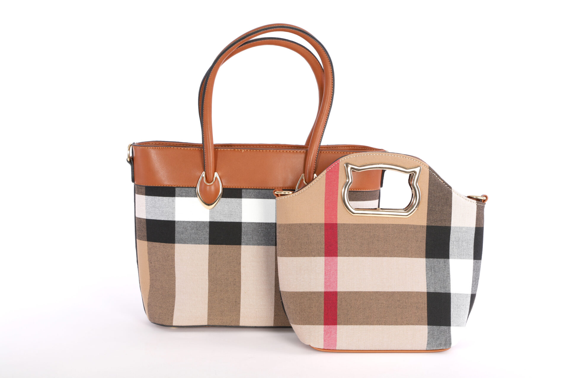 Plaid Bag Set